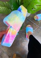 Tie Dye Slip On Platform Slippers
