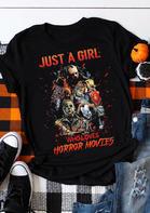 Halloween Just A Girl Movie T-Shirt