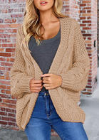Knitted Long Sleeve Loose Sweater Cardigan