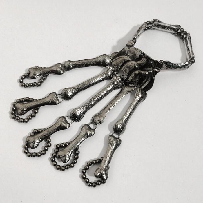 Halloween Skull Skeleton Hand Bracelet