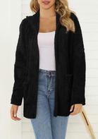 Pocket Hooded Coat - Black