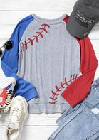 Color Block Baseball Sweatshirt