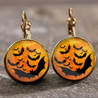 Halloween Bat Alloy Earrings