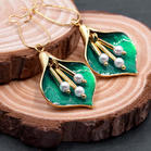 Vintage Floral Alloy Beading Earrings