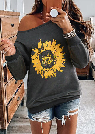 Sunflower Long Sleeve Sweatshirt - Gray