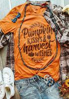 Halloween Pumpkin Kisses Graphic T-Shirt