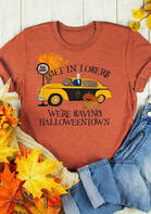 We're Saving Halloweentown Pumpkin T-Shirt