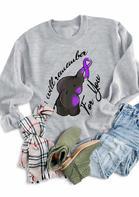 Alzheimer's Elephant Cancer Awareness Sweatshirt