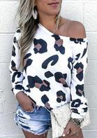Leopard Long Sleeve O-Neck T-Shirt