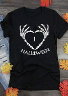I love Halloween Heart T-Shirt Tee