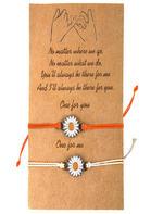 Adjustable Sunflower Braid Alloy Bracelet