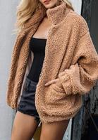 Winter Warm Pocket Zipper Fleece Coat