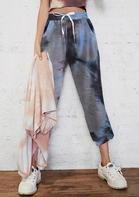 Tie Dye Drawstring Pocket Pants