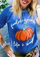 Thanksgiving Pumpkin Feelin' Gourd T-Shirt