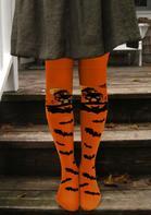 Halloween Bat Over Knee Warm Socks