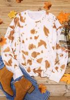 Tie Dye O-Neck Pullover Sweatshirt