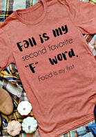 Bellelily coupon: Fall Is My Second Favorite F Word T-Shirt Tee - Watermelon Red