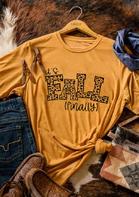 Thanksgiving It's Fall Finally Leopard Letter T-Shirt