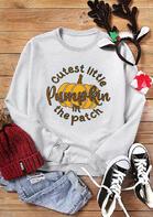 Thanksgiving Cutest Pumpkin In The Patch Sweatshirt