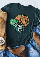 Leopard Grouped Pumpkins T-Shirt