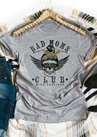 Bad Moms Club Skull Leopard T-Shirt
