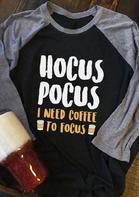 Hocus Pocus I Need Coffee To Focus T-Shirt