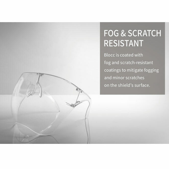 Anti-Fog And Scratch-Resistant Transparent Face Shield