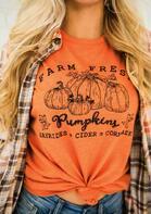 Thanksgiving Pumpkin Patch O-Neck T-Shirt