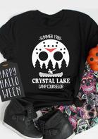 Halloween Horror Movie Crystal Lake T-Shirt