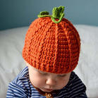 Bellelily coupon: Halloween Warm Soft Kids Pumpkin Knitted Beanie Hat