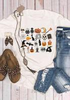 Halloween Pumpkin Skull Little Things T-Shirt
