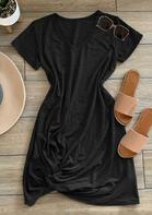 Twist Tie V-Neck Mini Dress
