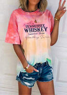 Smooth As Tennessee Whiskey Tie Dye O-Neck Blouse