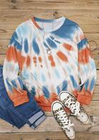 Tie Dye Slit O-Neck Sweatshirt