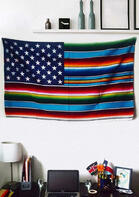 Serape Striped American Flag Tapestry