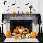 Halloween Lace Spiderweb Fireplace Mantle Scarf Cover