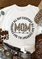 Leopard Mom Mode All Day T-Shirt