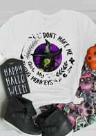 Halloween Flying Monkeys Funny Witch Bat T-Shirt