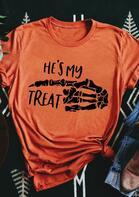 Halloween He's My Treat Skeleton T-Shirt