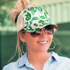 Cactus Criss-Cross Mesh Splicing Baseball Cap