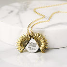 Bellelily coupon: Hot Mess Just Doing My Best Sunflower Locket Pendant Necklace