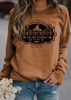 Bellelily coupon: Halloween Spider Witch Hat Sanderson Sweatshirt - Brown