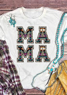 Aztec Geometric Leopard Mama T-Shirt