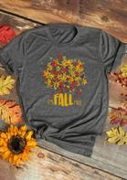 Thanksgiving Maple Leaf It's Fall T-Shirt