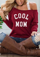 Cool Mom Slash Neck Blouse without Lace Camisole