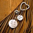 I Love You Moon Pendant Heart-Shaped Keychain