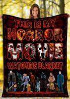 Halloween Horror Movie Watching Fleece Blanket
