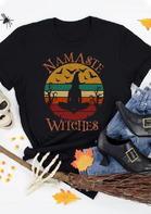Halloween Namaste Witches O-Neck T-Shirt