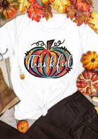Thankful Colorful Doodle Pumpkin T-Shirt