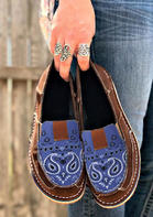 Paisley Slip On Flat Canvas Sneakers